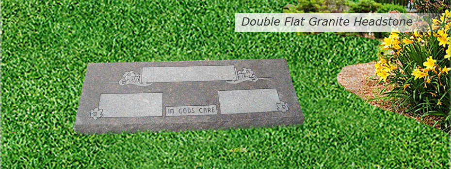 double-flat-granite-headstone-slideshow