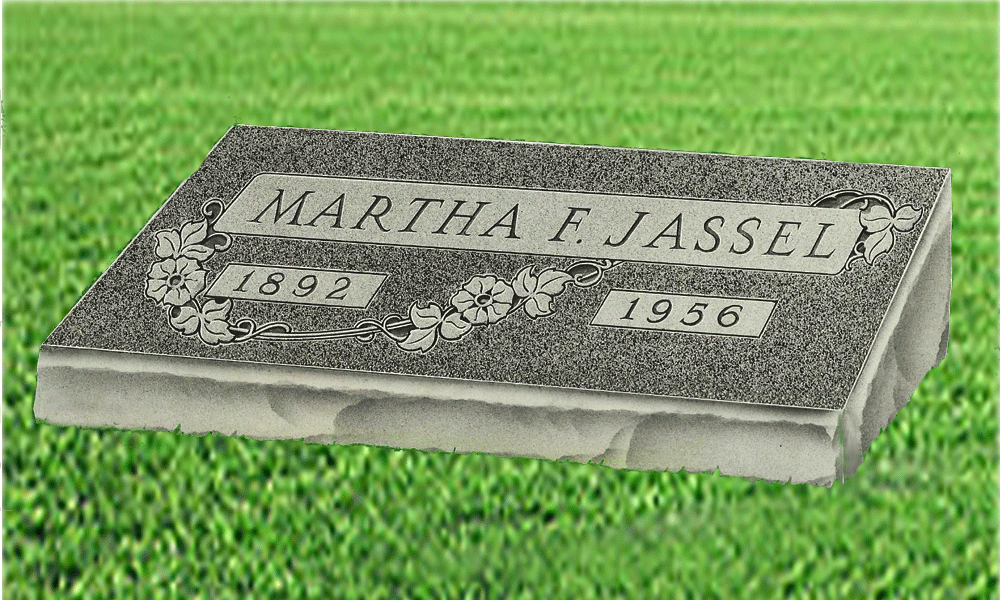 Granite Headstones Grave : Single bevel granite headstones bluhm monument works inc